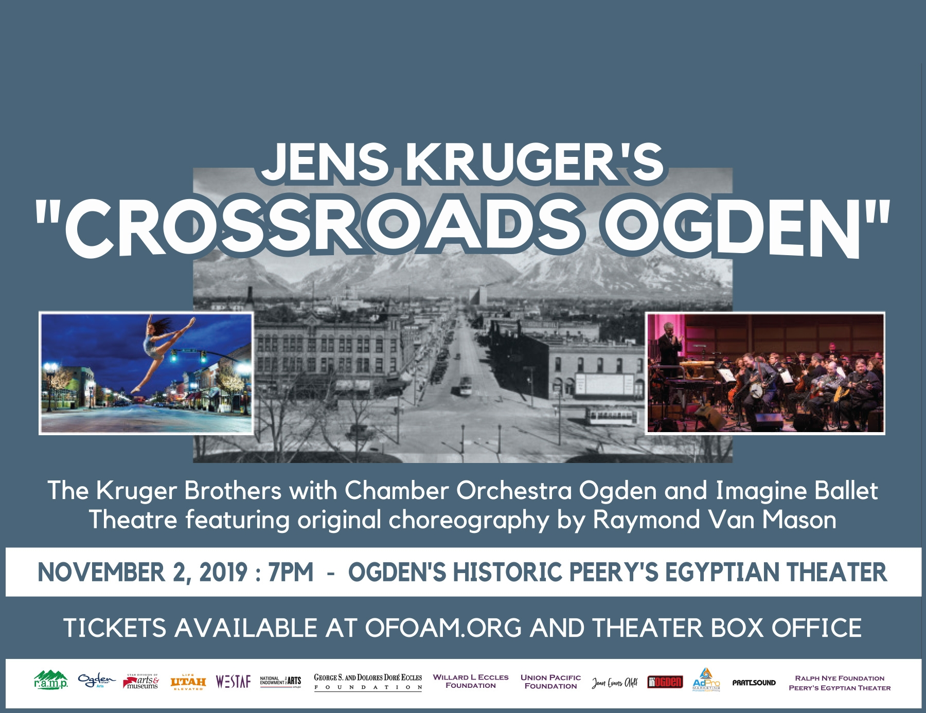Crossroads Ogden, World Premiere at Ogden's Historic Peery's Egyptian Theater - November 2, 2019, 7:00 PM