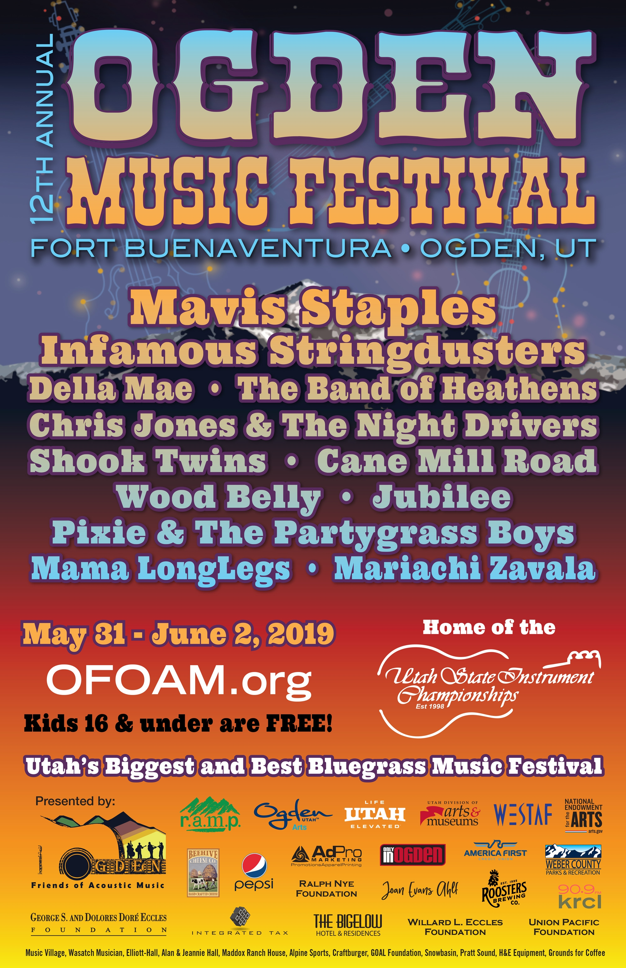 Ogden Music Festival 2019 Lineup Preview and Holiday Ticket Prices